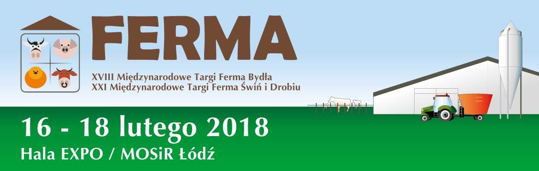 Baner targów Ferma 2018 Łódź