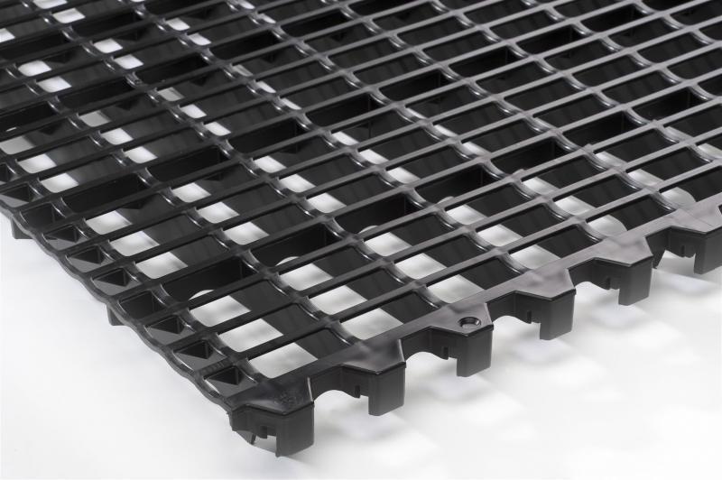 Ruszto czarne z kwadratowymi otworami